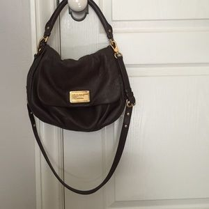 Marc Jacobs brown leather Natasha Crossbody bag