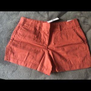Ann taylor loft orange shorts