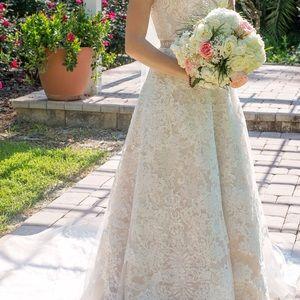 Oleg cassini dresses wedding on poshmark for Oleg cassini champagne wedding dress