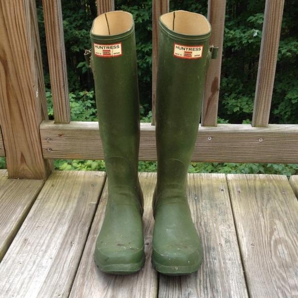 3f2919cd47c Vintage Huntress (Hunter) Boots Wellies, Size 6
