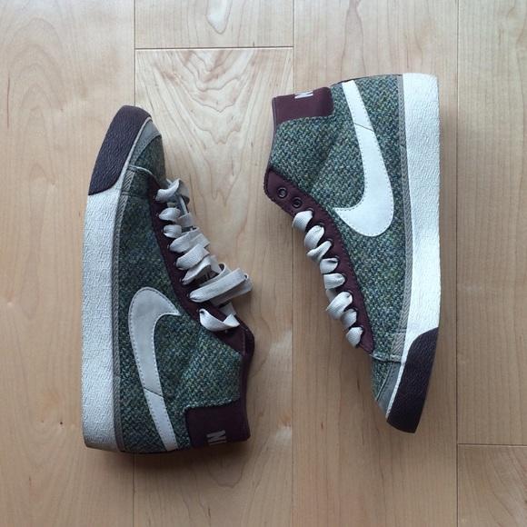 47e395114991 Harris Tweed Nike Hi Tops. M 57d1e8f38f0fc4a47e0006df