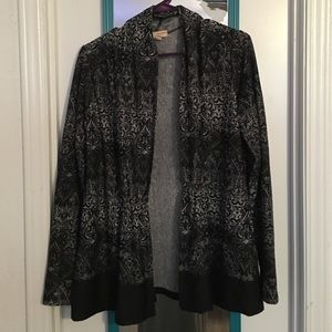 Choices Tops - Black and grey cover up