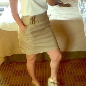 Tory Burch kaki mini skirt