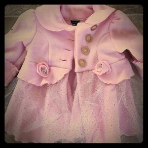 Other - Adorable pink fleece tutu coat