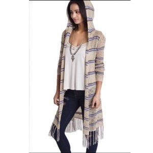 Bohemian chic hooded cardigan