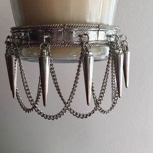 NEW SILVER STATEMENT SPIKE ARM CUFF BRACELET