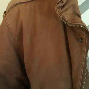 hunters run Jackets & Coats - Leather Bomber Jacket