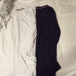 Liz Lange long sleeve maternity shirt bundle