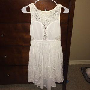 BCBG White high low dress. Size 4