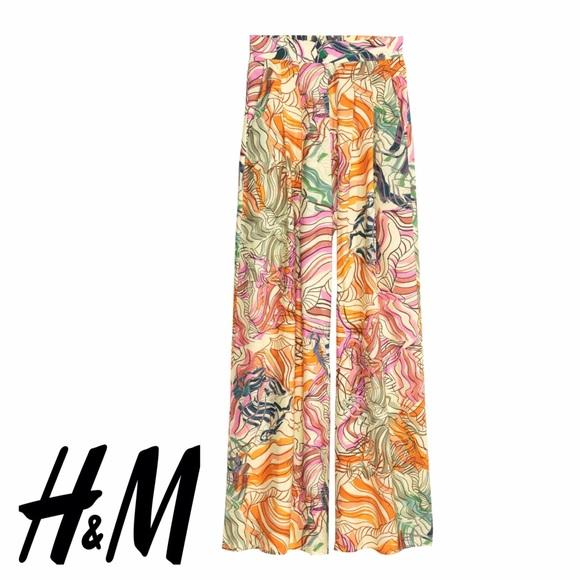 c3ed06d1c9 H&M Pants | Nwt Floral Print Wide Leg | Poshmark