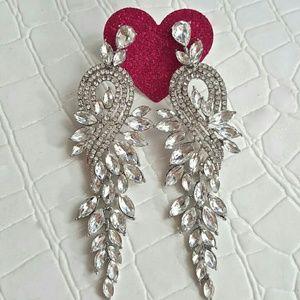 BRIDAL STUNNING CRYSTAL CHANDELIER EARRINGS