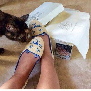 Charlotte Olympia Shoes - Charlotte Olympia kitty raffia flats