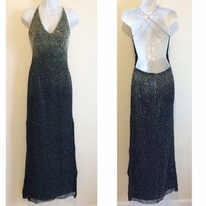Scala Dresses & Skirts - Silver Beaded Scala Homecoming Dress