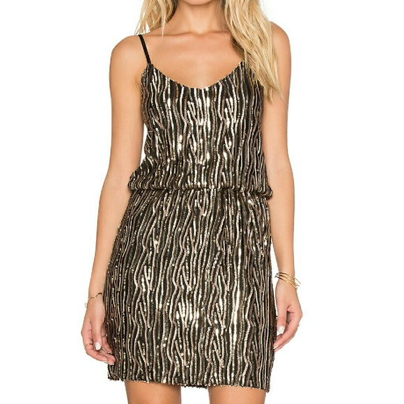 e7df688ed3 Sexy sparkly sequin black and gold party dress. NWT. Oh My Love