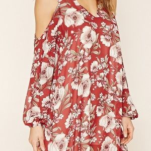 Dresses & Skirts - cut off shoulder floral dress