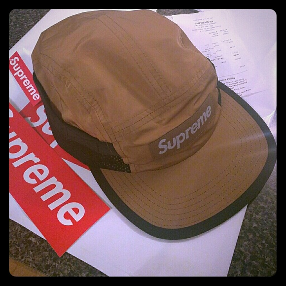24f35533311 Supreme 5 panel mesh pocket camp cap