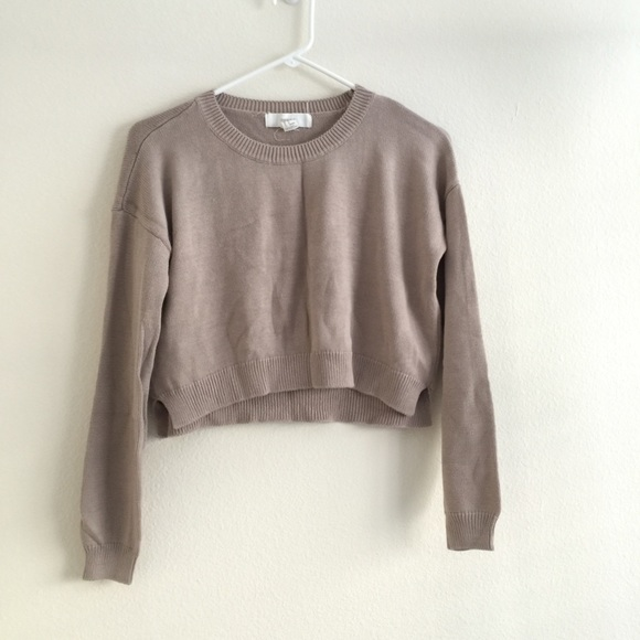 44% off Forever 21 Sweaters - Taupe brown cropped sweater from ...