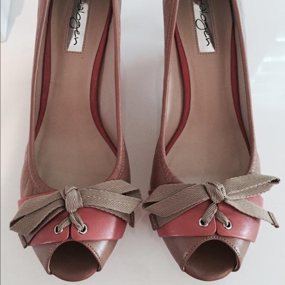 75% off Halogen Shoes - NIB Halogen Tan/Peach Kitten Heel Size 6-1