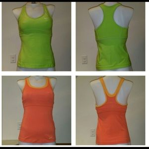2 Nike workout tips w/ built in bra sold together