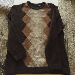 Lyle & Scott Sweaters - Wool argyle sweater