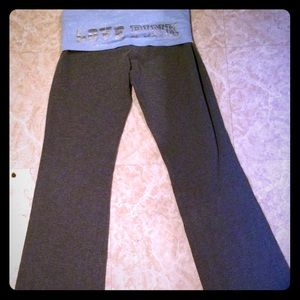 VS PINK HTF grey and blue yoga pants