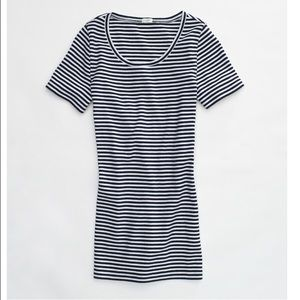 J crew FACTORY PERFECT-FIT STRIPE CREWNECK TEE