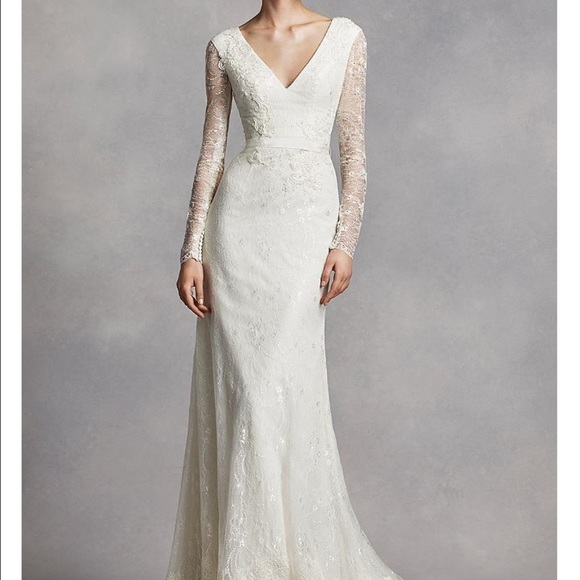 b91a56b24eb951 Vera Wang Dresses | White By Long Sleeve Lace Wedding Dress | Poshmark