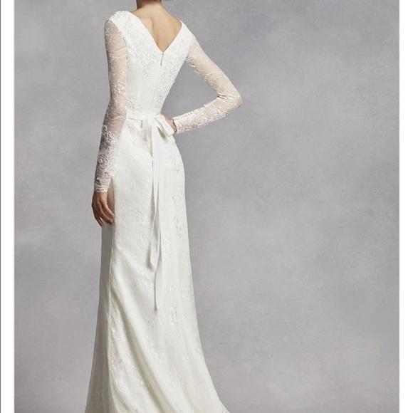 Vera Wang - White by Vera Wang Long Sleeve Lace Wedding ...