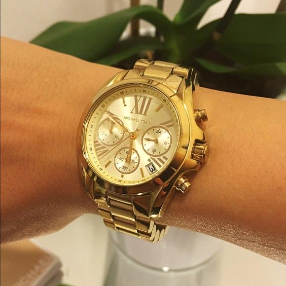 6cd81d31118d7 Michael Kors Bradshaw Gold Tone Watch. M 57d21d3341b4e0d8470072bf