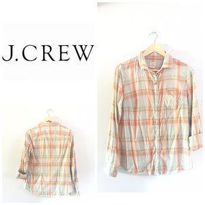 "J. Crew plaid ""perfect"" shirt"
