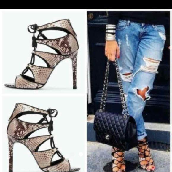 ef3582fa2c8 Zara snake skin lace up