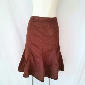 FRENCH Cuff Flare Skirt