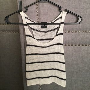Stipe sweater tank