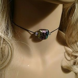 101 California Street   Jewelry - Beautiful Chocker - Italian Murano Glass - Adjusts