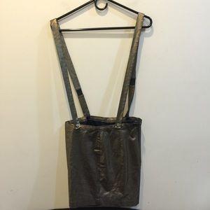 Mason Dresses & Skirts - Mason Gold Metallic Suspender Jumper Skirt