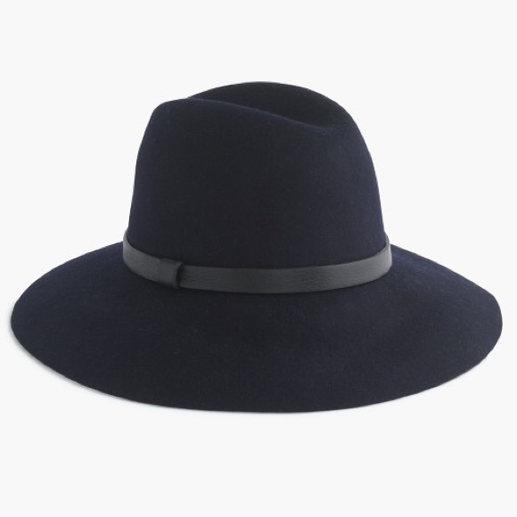 J. Crew Accessories - J. Crew Wide-brimmed hat with leather band 9689b68ba74d