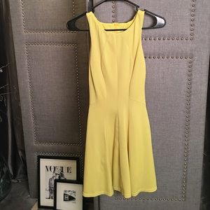 Yellow saks dress