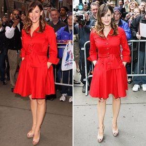 Diane von Furstenberg Dresses & Skirts - Diane von Furstenberg Red Rosina Shirt Dress