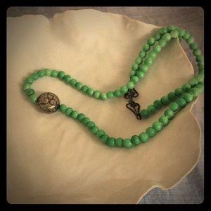 Jewelry - Ceramic beads w/Tribal bead Accent by Bilbilla ⚱