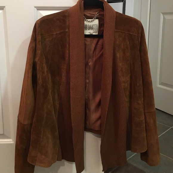 jacket cupcakes suede mackenzie and drapes faux draped style cashmere