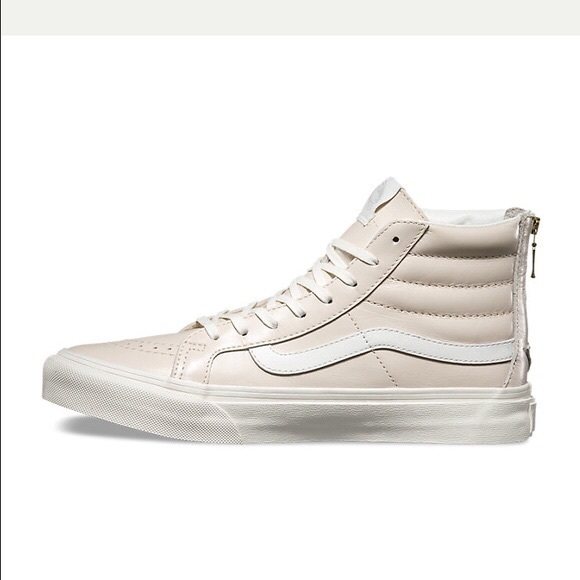 BRAND NEW- high too leather light pink white vans ee144d5117e7