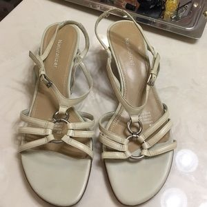 """Naturalizer Shoes - Naturalizer® cream 1.5"""" wedge strappy sandals"""