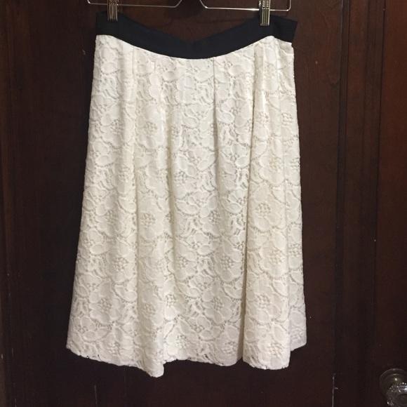 84% off LOFT Dresses & Skirts - LOFT cream lace midi skirt NWOT ...