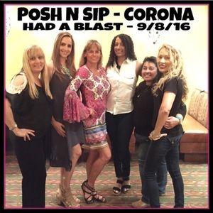 9/8/2016 POSH N SIP Corona, CA  that's a wrap