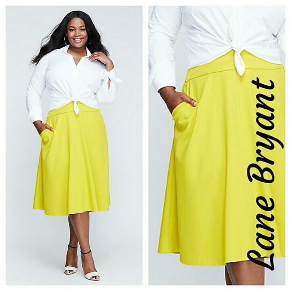 3628dbadf Lane Bryant Skirts | New Ponte Circle Skirt Yellow 22 3x Xxl | Poshmark