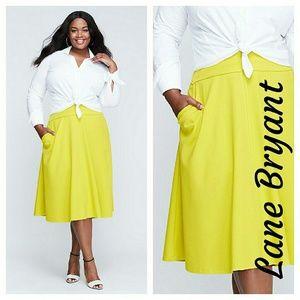 Lane Bryant Dresses & Skirts - Lane Bryant PONTE CIRCLE SKIRT yellow 22 24 26
