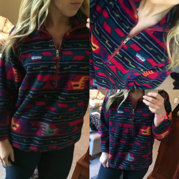Pattern fleece pullover
