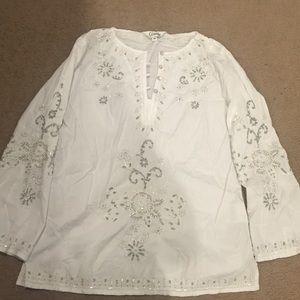 White embellished tunic