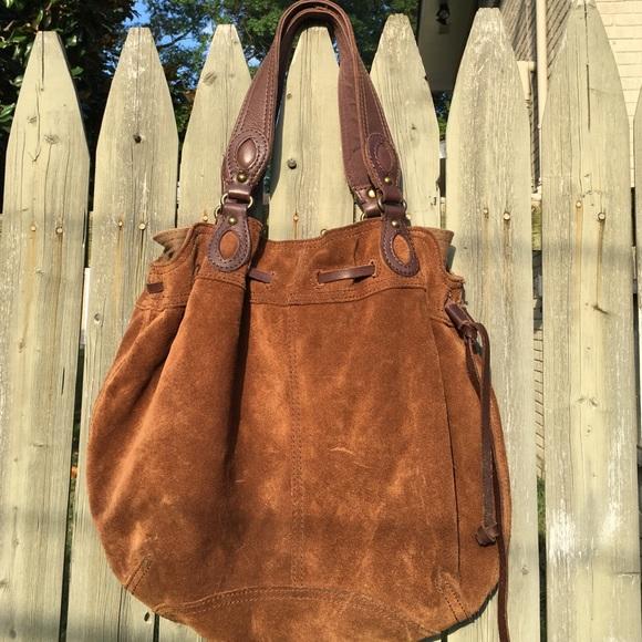 Lucky Brand Handbags - Lucky Brand brown suede boho hobo bag purse e30e8054e4d3c