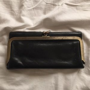Lightly used leather Hobo wallet